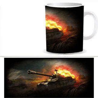 Чашка с принтом World of Tanks 0033S