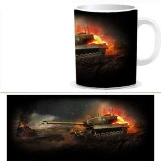 Чашка принтом World of Tanks 0038S