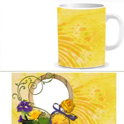 Чашка с фото желтая W0024S
