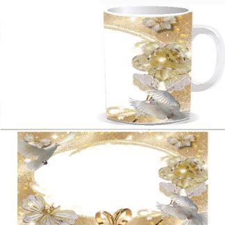 Чашка с фото свадебная - W0027S