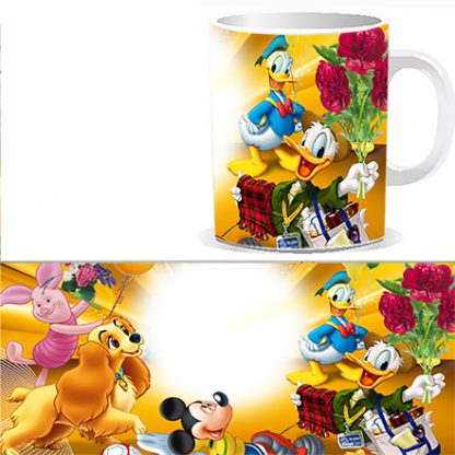 Чашка детская с персонажами Диснеевских мультиком и Вашей фотографией